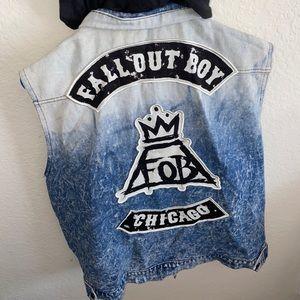Fall Out Boy Denim Vest